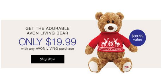 Avon Living Christmas Bear