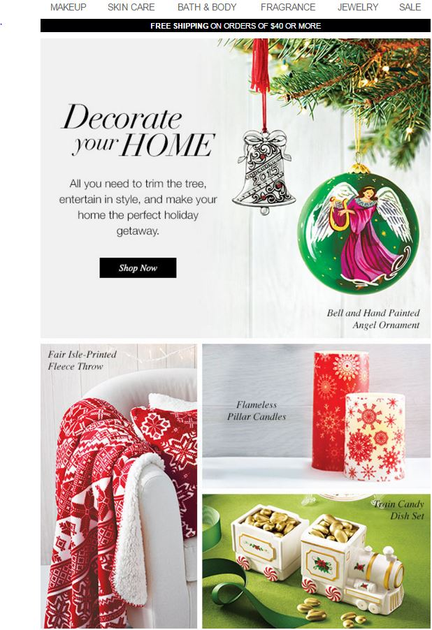 Decorate For Christmas With Avon