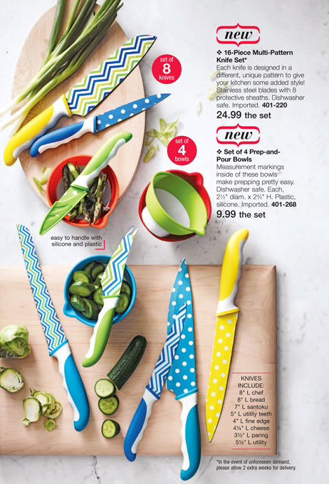 Avon 16-Piece Multi-Pattern Knife Set