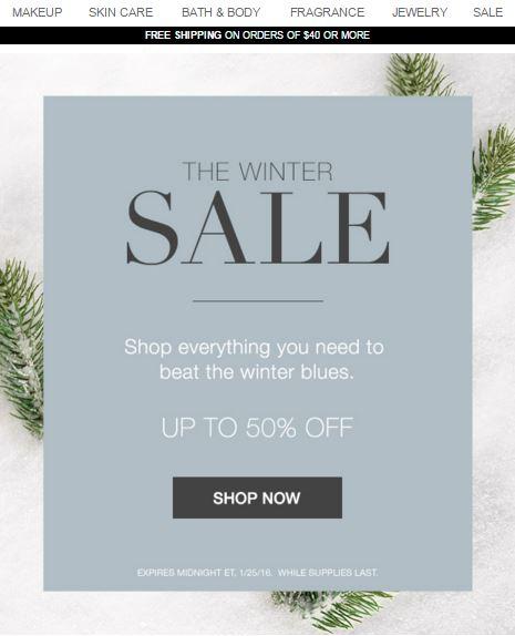 Avon Fall Winter Sale 2016