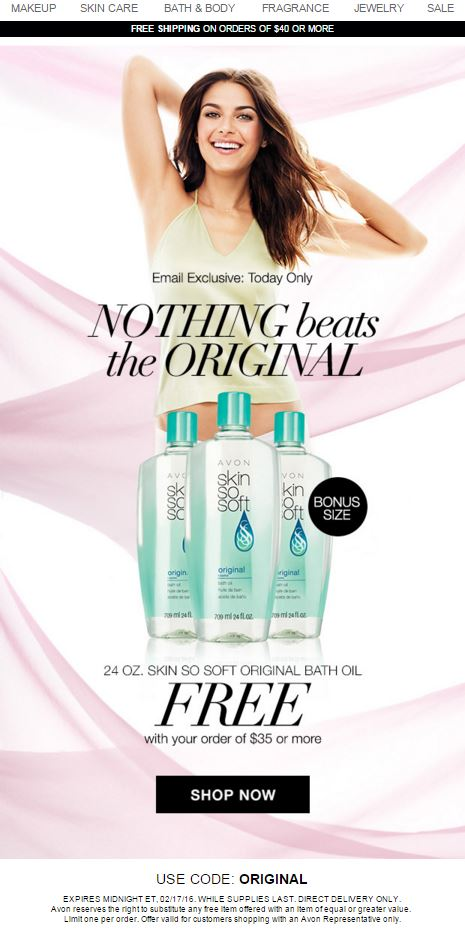Avon Coupon Code ORIGINAL