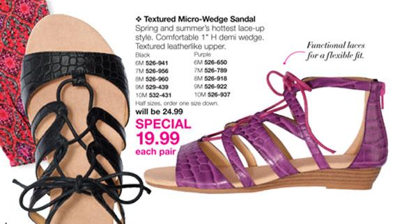 Beth's Favorite Avon Item - Textured Micro-Wedge Sandal