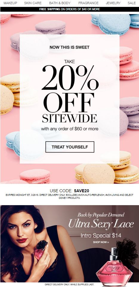 Avon Coupon Code SAVE20