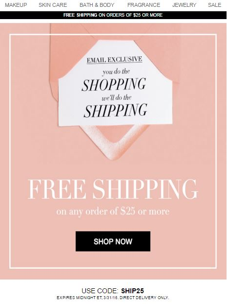 Avon Free Shipping Code SHIP25
