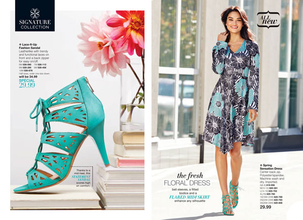 Avon Signature Collection Spring Sensation Floral Dress Sandals