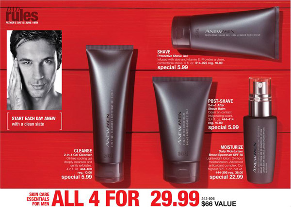 Avon Anew Mens Facial Care