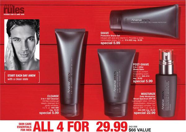 Avon Anew Mens Facial Care