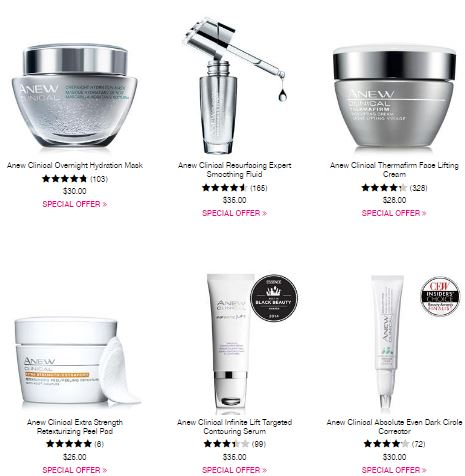 Avon Anew Clinical C19 2016