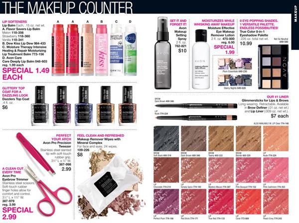 Avon Makeup Counter