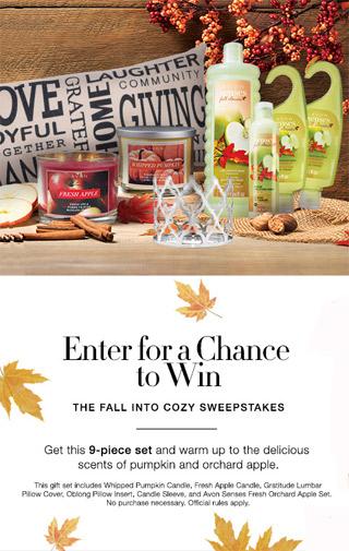 Avon Fall Into Cozy Sweepstakes