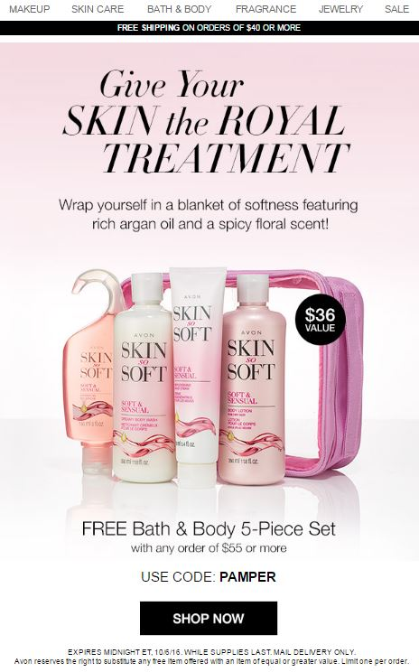 Avon Coupon Code PAMPER