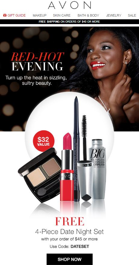Avon Coupon Code DATESET