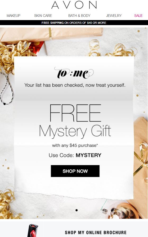 Avon Coupon Code MYSTERY