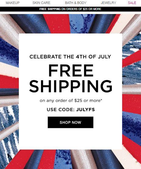 Avon Free Shipping Code JULYFS