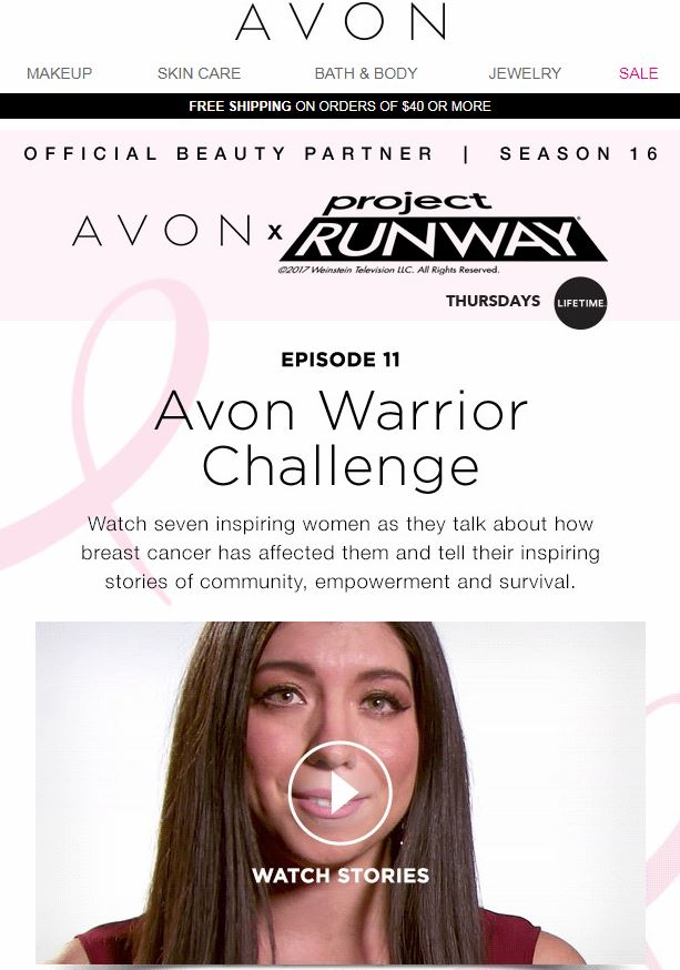 Project Runway Avon Warrior Challenge