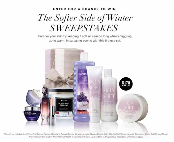 side by side sweepstakes avon softer side winter sweepstakes beauty makeup and more 8855