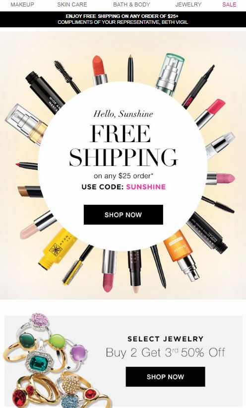 Avon Coupon Code SUNSHINE