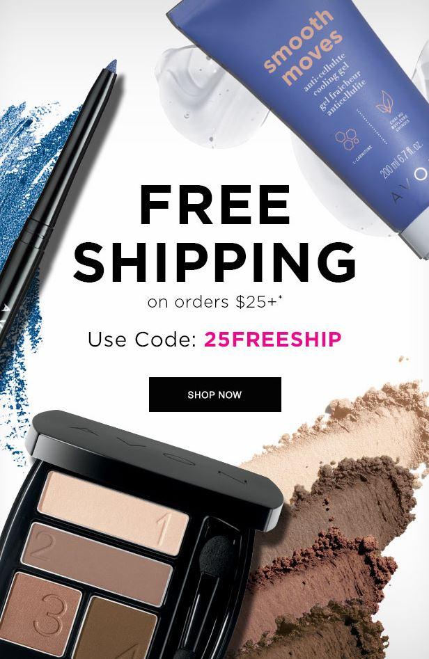 Avon Free Shipping Code 25FREESHIP